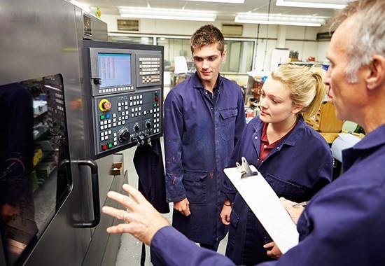 Employee providing technical training