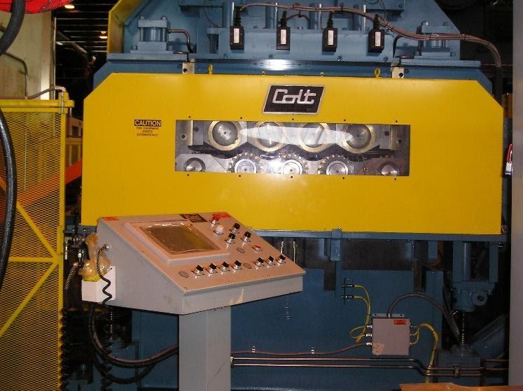 CERFS-80 Extra Heavy-Duty straightener feeder. Colt Automation powered straightener with actuators handling various steel gauges and types: AHSS, Gen 3, HSLA, High Strength Steel, Class A, Aluminum, Mild Steel, Cold-rolled metal coil, hot-rolled steel coil, alloy steel, galvanized.