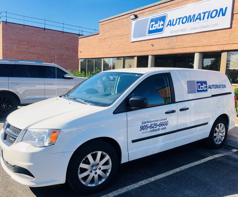Colt Automation service vehicle. Repairs and service hotline. Steel coil processing and technology experts.