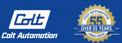 Colt Automation Logo and Over 55 Years Badge