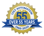 Colt Automation Over 55 Years Badge